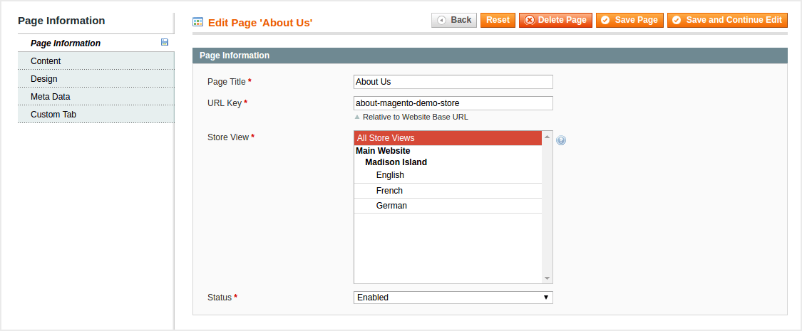 Magento Custom Tab
