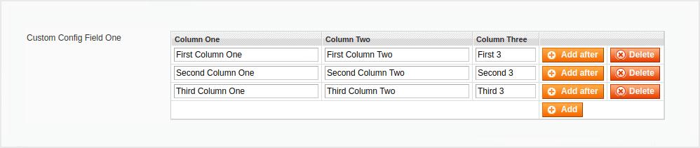 Magento Custom System Configuration Field